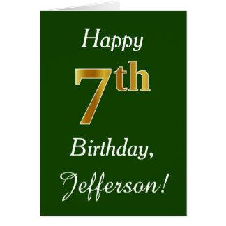 Cartão Verde, aniversário do ouro do falso 7o + Nome