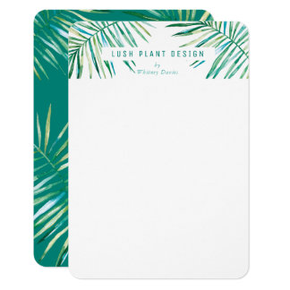 Cartão Verde botânico luxúria da vida do LOGOTIPO EM