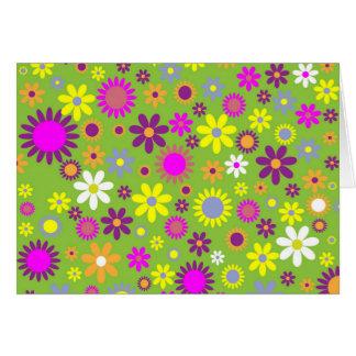 Cartão Verde colorido de Scrapbooking do teste padrão