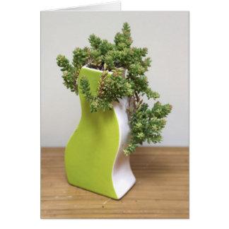 Cartão Verde com inveja - a planta perfeita