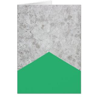 Cartão Verde concreto #175 da seta