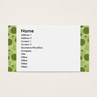 cartão verde customizável dos pontos