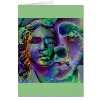 Cartão Verde da lavanda do pesadelo