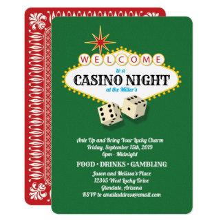 Cartão Verde da noite do casino do famoso de Las Vegas