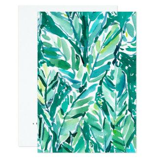 Cartão Verde da SELVA da FOLHA da BANANA tropical
