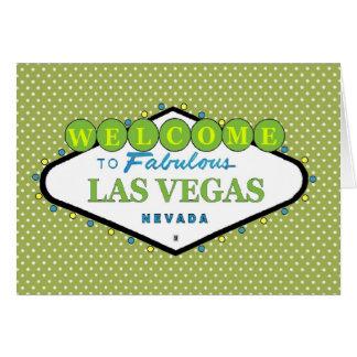 Cartão verde das bolinhas de Las Vegas