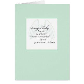 Cartão Verde de 2653 asas do bebê do anjo, simpatia