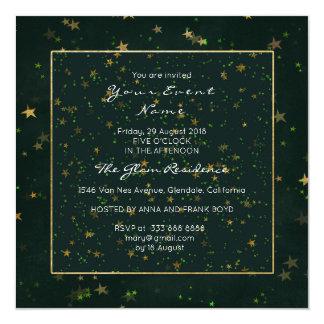 Cartão Verde de Cali da noite estrelado da floresta da