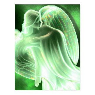 Cartão verde do anjo