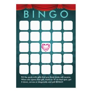 Cartão verde do Bingo do chá de panela do coração  Cartão De Visita Grande