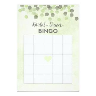 Cartão verde do Bingo do chá de panela dos Convite 12.7 X 17.78cm
