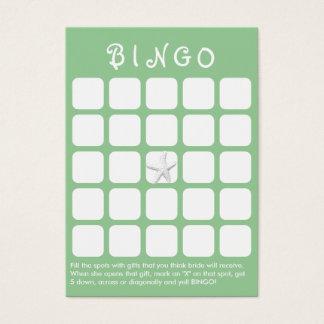 Cartão verde do Bingo do chá de panela dos peixes