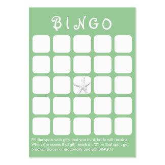 Cartão verde do Bingo do chá de panela dos peixes Cartão De Visita Grande