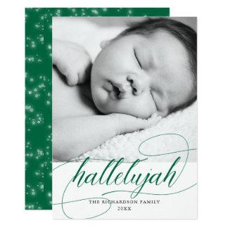 Cartão Verde do feriado da aleluia | do Natal com foto