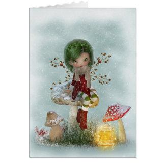 Cartão Verde do inverno