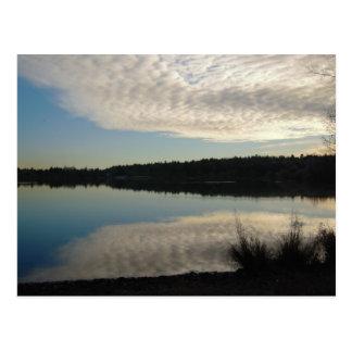 Cartão verde do lago