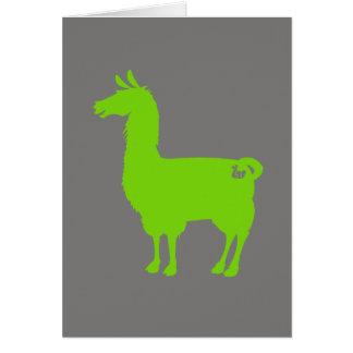 Cartão verde do lama
