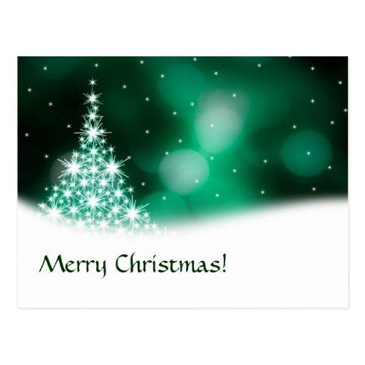 Cartão verde do Natal Cartão Postal