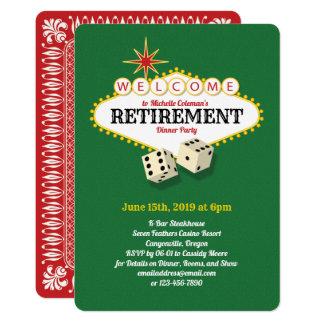 Cartão Verde do partido de aposentadoria do famoso de Las