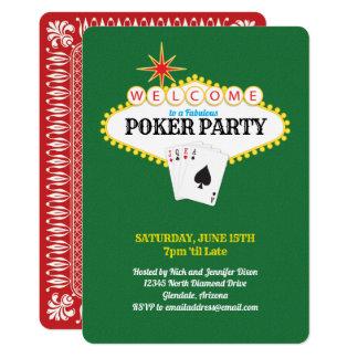 Cartão Verde do partido do póquer do sinal do famoso de