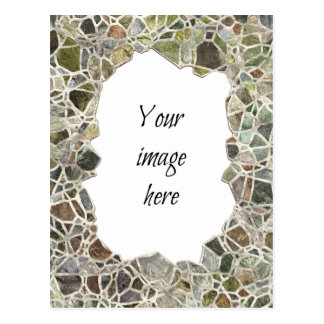 Cartão verde do quadro do mosaico cartoes postais