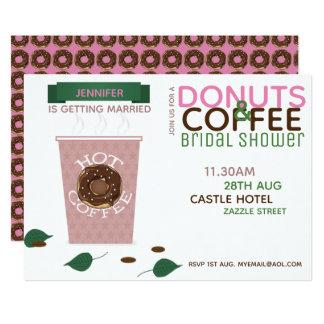 Cartão Verde do rosa do chá de panela das ROSQUINHAS do