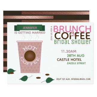 Cartão Verde do rosa do chá de panela do CAFÉ da REFEIÇÃO