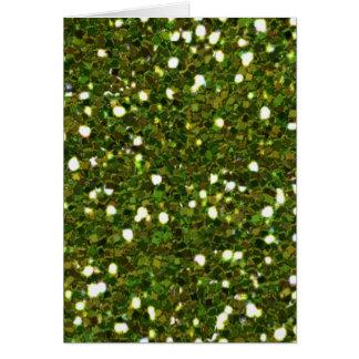 Cartão verde dos brilhos