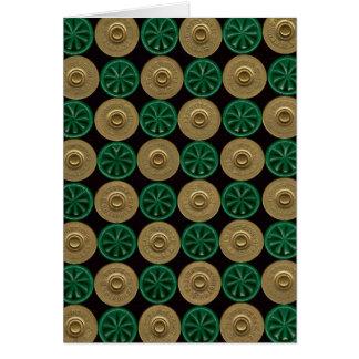 cartão verde dos escudos de espingarda