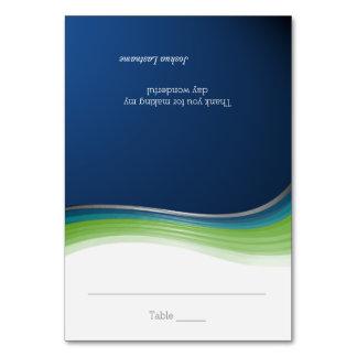 Cartão verde e azul do assento da onda