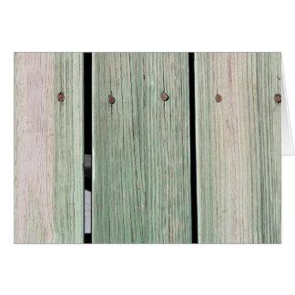 Cartão Verde e passagem de madeira da prancha de Brown