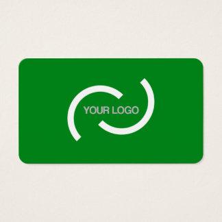 Cartão verde elegante. Personalize com seu próprio