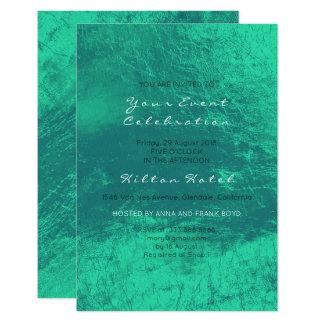 Cartão Verde esmeralda metálico mínimo vidro mínimo