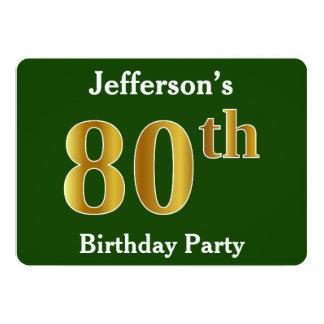 Cartão Verde, festa de aniversário do 80 do ouro do falso