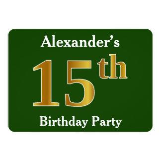 Cartão Verde, festa de aniversário do ouro do falso 15a +