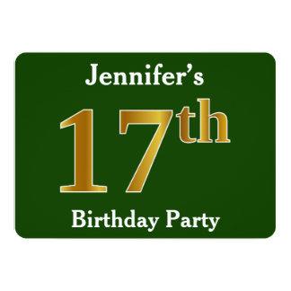 Cartão Verde, festa de aniversário do ouro do falso 17a +