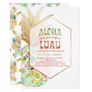 Cartão Verde havaiano dos abacaxis/hortelã de PixDezines