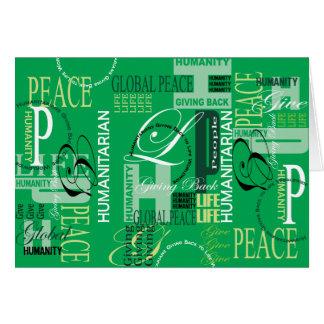 Cartão verde humanitário dos grafites
