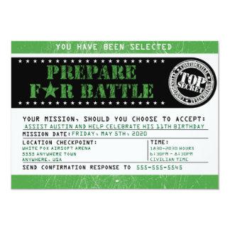Cartão Verde militar de 5x7 da batalha de Airsoft