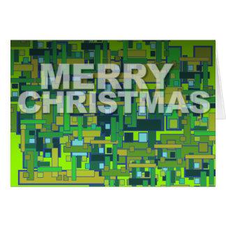 Cartão Verde moderno do quadrado do teste padrão do