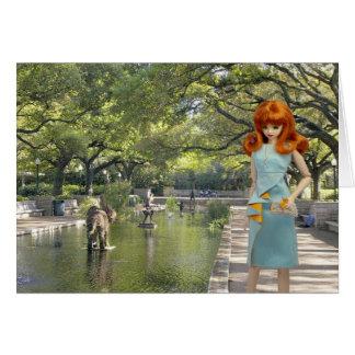 Cartão Verdi, entrada do jardim zoológico de Houston