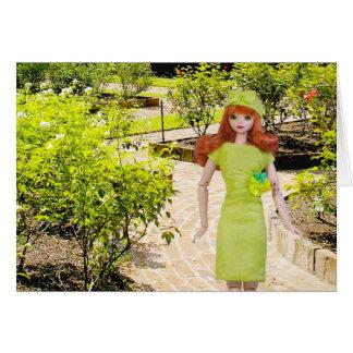 Cartão Verdi, jardim de rosas do parque de Sam Houston em
