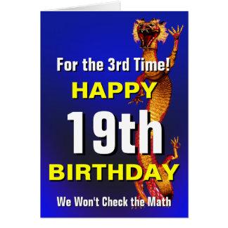 Cartão Verifique o aniversário da matemática