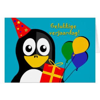 Cartão Verjaardag de Gelukkige! Aniversário no holandês