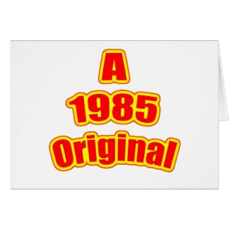 Cartão Vermelho 1985 original