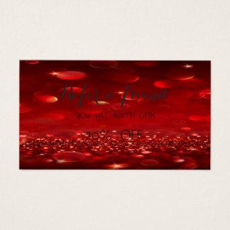Cartão vermelho à moda elegante da referência de