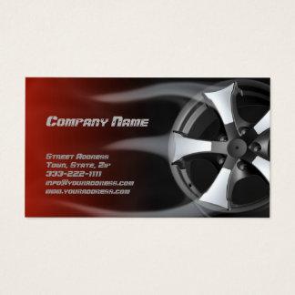 Cartão vermelho ardido de serviço de reparação de