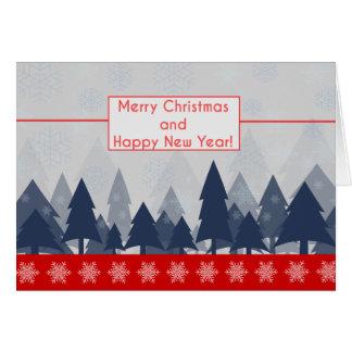 Cartão vermelho & azul da tipografia da cena do