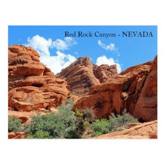 Cartão vermelho bonito da garganta da rocha!