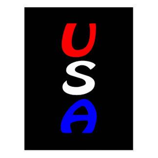 Cartão vermelho, branco & azul dos EUA